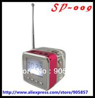 50pcs/lot Portable Speaker Mini Portable Music USB LCD MP3 Player Speaker FM TF Card NIZHI TT-028