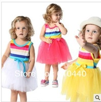 2013 cute baby girl's dress for summer ,children tutu dress ,free shipping 4pcs/lot