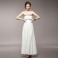Party maxi fashion desigual long sequined plus size evening off shoulder dress for women/white/S M L/6751