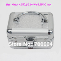 120*80*75mm, 2014  Portable Cosmetic Case, Makeup Kit Storage Beauty Organizer Toiletry Train Jewelry Boxes, CC010