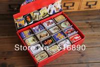 Free Shipping! 32pcs/lot European Vintage  Mini Tin Box Storage Case Jewelry Box pill case 16 designs