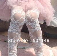 Baby lace leggings toddler lace leggings summer girls leggings ankle lengh girls tights