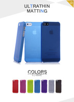 Multicolor Ultra Thin Matting Plastic Phone Accessory Case for Iphone5 Mixed Color Option