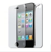 Free Shipping Matte Screen Protector with Cleaning Cloth for iPhone 4 4S (Front & Back)