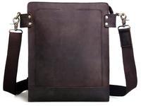 TIDING Fashion Men Bull Leather Briefcase Shoulder Bag Messenger Satchel 1066