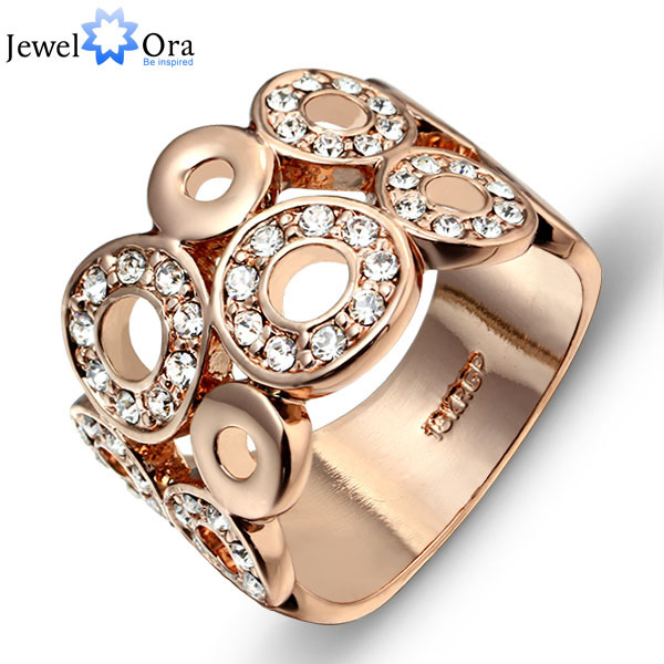 Italina Vintage Party Ring Jewelry Rigant Gold Plated Filled Big Accessories Exaggerated Rings For Women (JewelOra Ri100740)(China (Mainland))