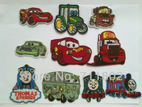 HOT SALE ! kids iron on patches  Children day gift  patches car Cloth Patch Sticker Decal for Clothes, 12pcs/lot