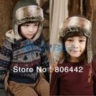 New Children Kids Winter Earflap Hat Ear Warmer Earmuff Leifeng Baby Cap  9453(China (Mainland))