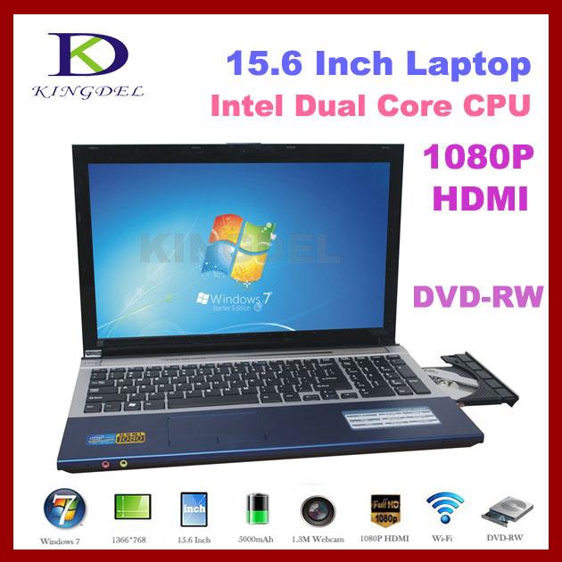 "15.6"" Gaming Notebook computer cheap laptop Intel Celeron 1037U Dual Core+4GB RAM+640GBHDD+DVD-RW+1080P HDMI+Webcam(Hong Kong)"