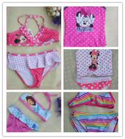 girls baby kids bikini swimsuit two pieces tankinis set minnie princess swim suit children swimwear suits cheap new 2
