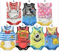sale 2014 children's clothing baby romper newborn  romper male ultra soft cotton Baby girls boys Mickey Minnie Kids Rompers