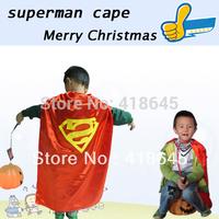 90*70CM Custom children Superman cape for Children for Christmas Halloween Holiday Birthday Party