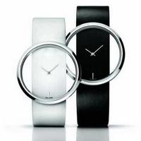 2014 Fashion Personality Watch Brief Transparent Ladies Engraved With Brand LOGO Women Quartz PU Leather Strap Men Wrist Watch