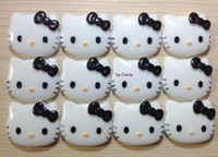 Flatback Resin Hello Kitty Face Cabochon with Black Bow Beauty Elements