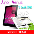 HOT!Quad core ainol novo venus 7 inch IPS Android 4.1 1GB 16GB Novo7 Myth dual camera tablet pc free shipping(China (Mainland))
