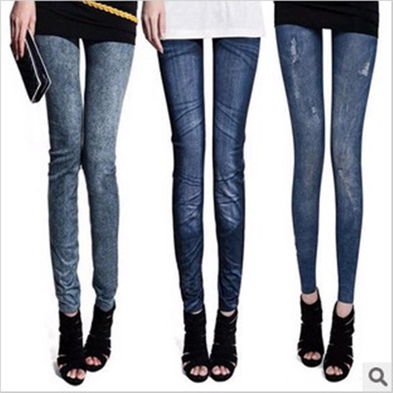 free shopping moda denim eccellente elasticità nove leggings ingrosso