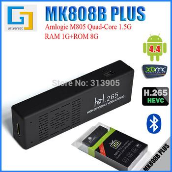 New Original MK808B Plus Android Mini PC Quad-Core Amlogic M805 1G+8G Quad Core Android TV Box Wifi Bluetooth Android 4.4 OS