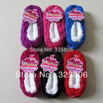 Free shipping 0-3 years old cartoon indoor Floor socks thick towel socks leather sole non-slip footgear children socks