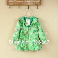 Free Shipping-On sale! Topolino hooded children / kids/girls wind jacket, girls winproof jacket, kids waterproof jacket(MOQ:1pc)