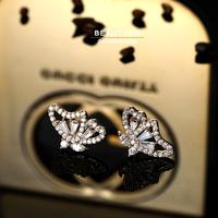 Butterfly Stud Earrings AAAAA CZ Piercing Earrings Beautyer Jewelry BEH45