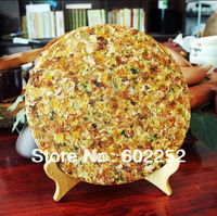 357g Gold award Puer tea Raw  ancient old trees Pu er tea flower cake Honey puerh pu erh tea maintain beauty and keep young+gift