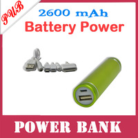 100pcs/lot External Portable Battery 2600mAh Mobile Power Bank charger For Mobile Phone  with package Free shipping
