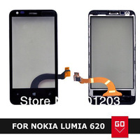 100% New For Nokia Lumia 620 Touch Screen Digitizer With Frame Free Shipping