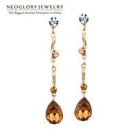 Neoglory Top Quality Austria Crystal Long Drop Earrings for Women Auden Rhinestone Jewelry Women Gift 2014 New Arrival