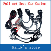Cool price ! full set of 8pcs car cables for tcs scanner cdp pro plus Car Cable DHL freeshipping 5pcs/lot in promotion