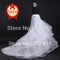 Wedding  dress petticoat bridal big train crinoline  3 layers hard yarns  2 hoops  rings underskirt