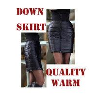 2014 new winter skirts plus size down skirt fashion slim pencil skirt package hip high waist skirt with zipper saias femininas