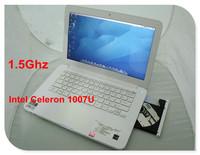 "13.3"" Windows 8 notebook computer CD DVD-RW notebook intel dual core Celeron 1037U bluetooth wifi W/option for 4GB and 500GB"