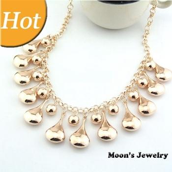 2014 New European Gold CCB Alloy Punk Chain Choker Statement Bib Necklace Fashion Jewelry Gift For Women Wholesale Hot MJ0448