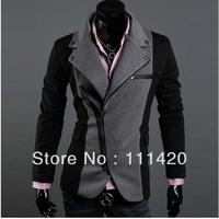 Men's Cool Slim Sexy Casual Blazer Leisure Suit Top Zip Jacket Black Grey Crazy Sale Men's High Class Fabrics Sport Blazers