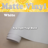 FedEx FREE SHIPPING High Quality Matte White Vinyl Film Roll Air Free Bubble For Car Wraps Thickness: 0.13mm Size: 1.52*30m/Roll