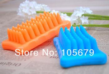 J055 Cat Dog Pet Cleaning Bath Massaging Soft Rubber Brushes Pet Bath Brush Wholesale 8 pcs/lot