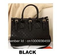 Fashion Lady  leather Vintage Totes  checkerboard shoulder bags handbags messenger bag  free shipping