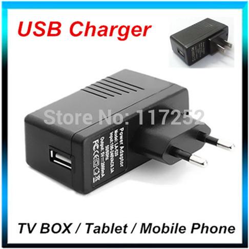Original EU / USA Plug Universal USB Charger AC Power Adapter for Tablet PC Cellphone TV Box Stick Dongle DC 5V 2A(China (Mainland))
