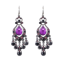 Multicolor Rhinestone Fashion 2015 Designer Long Drop Earrings Luxury Brincos Christmas Gifts Jewelry