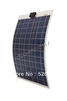 50W 12V solar panel ,soalr flexible  panel, poly crystaline cells module For 12v battery,free shipping