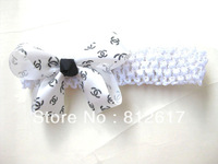 """mix colors  8cm 3-3.5"""" Butterfly bow Baby  children Hairbands Girls ribbon Headband Infant Knitting Hair Weave New Style"""