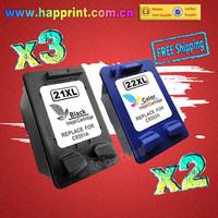 For hp 21 22  Ink Cartridge 21xl 22xl C9351AN C9352AN for HP printer Deskjet 3910 3920 3930v 3940v D1360 D1400 D1415...(3BK+2C)