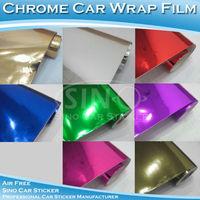 Free Shipping 1.52x5M 5FTx16.4FT Air Free Chrome Mirror Car Body Wrap Vinyl Film/Chrome Stikcer