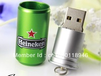 Pendrive can shape USB Flash Drive 32GB 16GB 8GB real capacity usb drive Pepsl heninken style memory stick