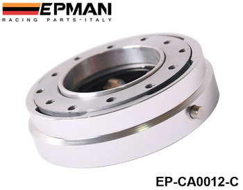 EPMAN Hot Selliing Thin Version Steering Wheel Quick Release (Default color is Silver) High Quality EP-CA0012-C-Silver