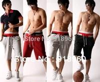 Men Casual Knee-length Sport Sweat shorts/Training Dance Baggy Jogging Trousers Slacks/half trousers shorts/3 colors/MtY