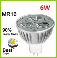 5pcs/lot 12V 3x2W 6W MR16 White LED Light Led Lamp Bulb Spotlight Spot Light Non-dimmable Free shipping