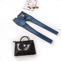 2014 new designer DEE elastic women jeans women skinny pencil jean pants trousers blue free shipping