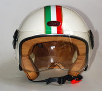 Free shipping!Fashion Beon Motorcycle half helmets Scooter vintage Open face helmet Moto 3/4 capacete B-110 Italy Flag ECE