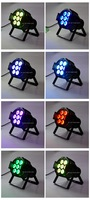 Hi-Quality Good NEW 7pcs*10W 4IN1 Quad LEDs RGBW/RGBA Mega Quadpar Profile,small weight and size Stage Light,hot DMX  Par can